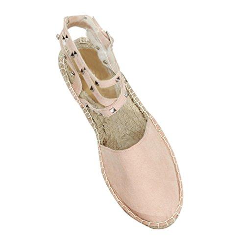 Spalline Caviglia Sandali Con Casuale Piatto Eleganti Come Xinwcang Closed toe Donna Immagine g8qwW7Ux