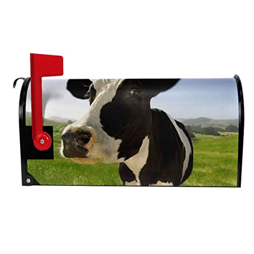 TARDIGA Lovely Milk Cow Pasture Meadow Grassland Magnetic Mailbox Cover