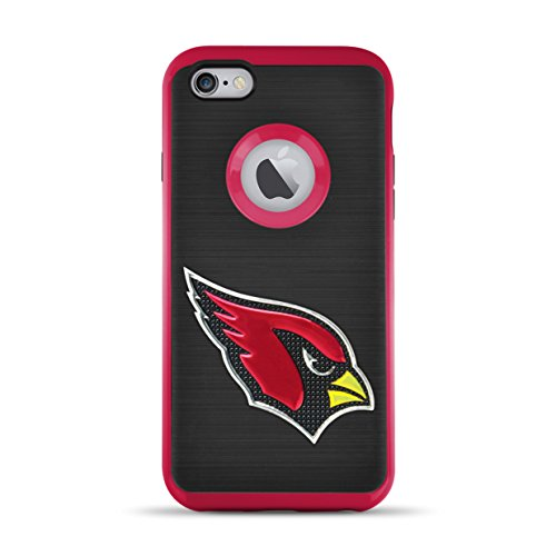 MIZCO SPORTS iPhone 8/7 Flex Licensed Case with 3D Steel Cut Logo - NFL Arizona Cardinals