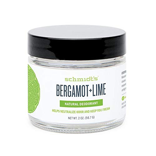 Schmidt's Natural Deodorant - Bergamot and Lime, 2 ounces. Jar for Women and Men