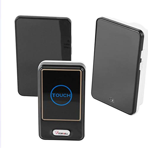 Zerodis Wireless Doorbell Touch Button for The Deaf/Old Men Home Alarm Calling System with 1Transmitter and 2 Receivers (US)