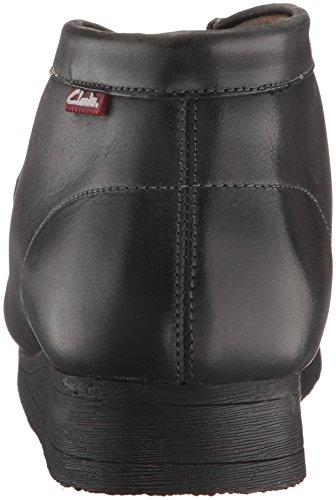 Clarks Mens Stinson Hi Ny Färg Chukka Boots Svart Vaxartad Läder