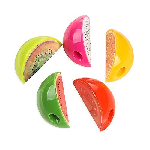 Lvcky 12Pcs Funny Fruit Single Hole Manual Pencil Sharpener Gift Set for All Kinds Pencils Kids Drawing School( ) ()