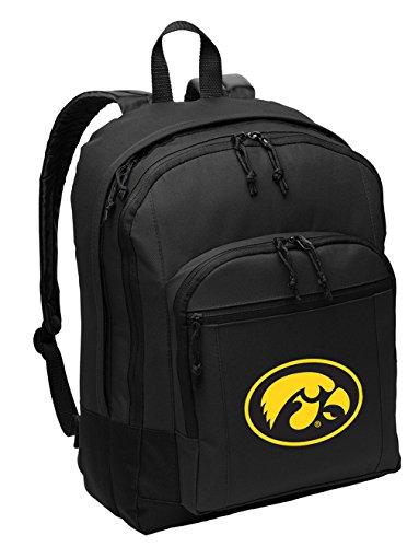 - Broad Bay University of Iowa Backpack Classic Style Iowa Hawkeyes Backpack Laptop Sleeve