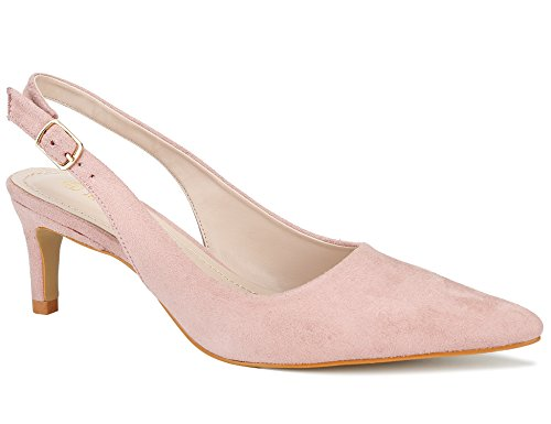 MaxMuxun Women Shoes Classic Slingback Kitten Heels Dress Pump