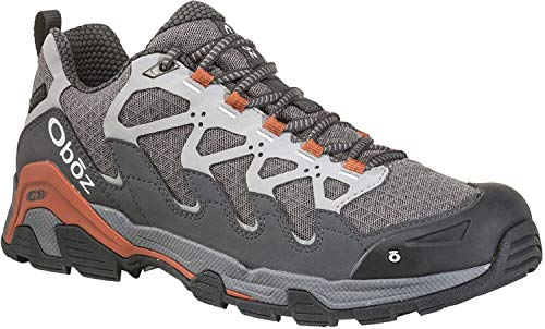 Oboz Cirque Low B-Dry Hiking Shoe - Men's Pewter/Burnt Orange 11 ()