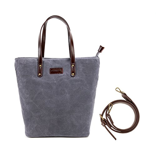 Totes Bag Canvas Angelina's Palace Waterproof Shoulder Bag for Women Wax Canvas Totes Bag (Reduce Wax)