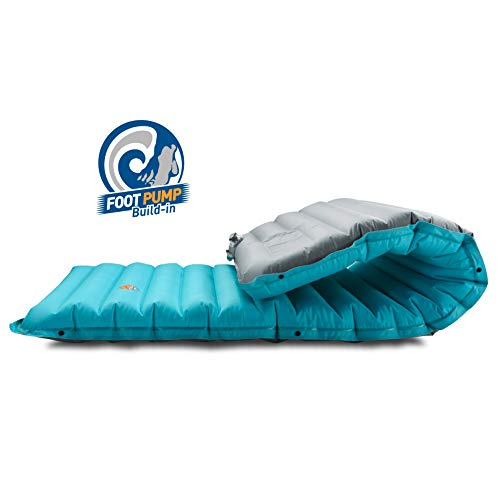 ZOOOBELIVES Extra Thickness Inflatable Sleeping Pad with Build-in Pump and Camping Inflatable Pillow, Most Comfortable Camping Gear for Backpacking, Traveling and Hiking, Compact and Lightweight