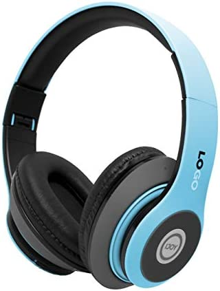 iJoy Matte Rechargeable Wireless Bluetooth Foldable Over Ear Headphones with Mic, Avatar (Renewed)