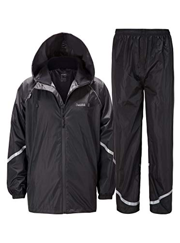 SWISSWELL Rain Suit for Men Waterproof Hooded Rainwear (Jacket & Trouser Suit) (Mediun, ()