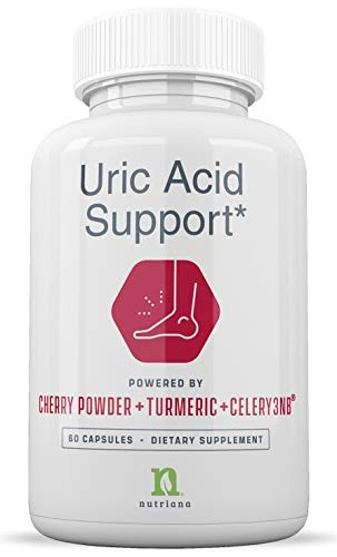 Uric Acid Cleanse Support Tart Cherry Capsules - Tart Cherry Juice Extract 2500 mg with Turmeric and Celery Seed Extract for Joint and Kidney Support - 60 Tart Cherry Concentrate Capsules