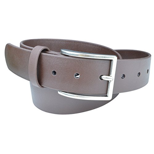 Indestructible Vegan Belt, Genuine Non Leather Belt with Italian Belt Buckle, Dress Belt for Men Made with Environmentally Friendly Material Fused with Nylon, Truth Slug (Brown, 34)