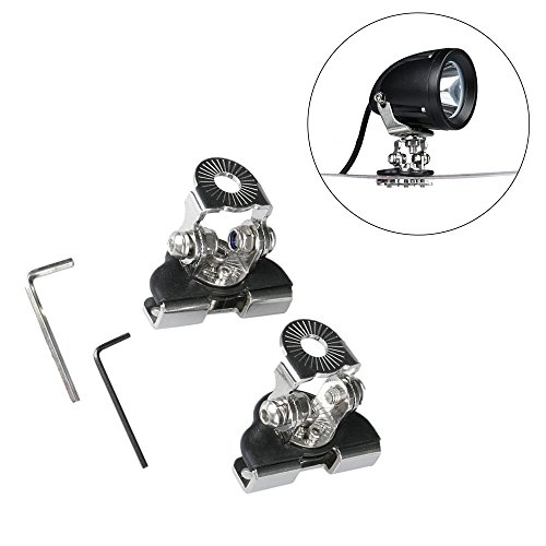 Triclicks 2pcs 304 Stainless Steel Pillar Hood Mount Bracket Clamp Holder for Offroad Light LED Work Lights Bar DRL by Triclicks