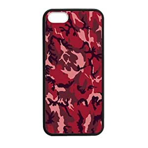 iPhone 5 Case, [Camouflage] iPhone 5,5s Case Custom Durable Case Cover for iPhone5 TPU case(Laser Technology)