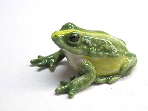 Animal Miniature Handmade Green Frog Statuette Collectibles Gift