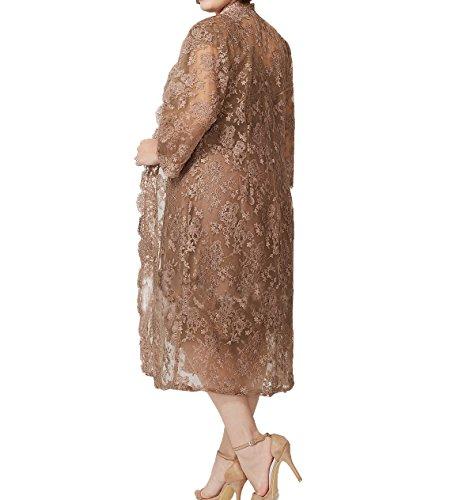 Knielang Promkleider Festlichkleider Spitze Jaket mit Grün Charmant Abendkleider Brautmutterkleider Damen Damen WUwqPp