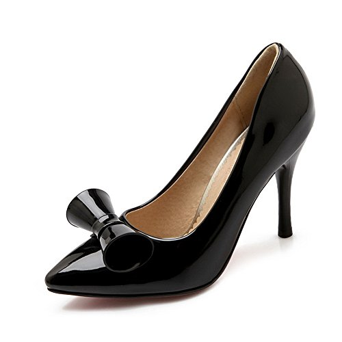 8360ec8e58e Low Pull cut Uppers Girls Pumps 1to9 shoes Leather Patent Bowknot Black on  HqWEnX ...