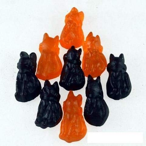 Cat Candy By Color Black and Orange 5 Pounds Bulk Bag Candy Black & Orange Cat -