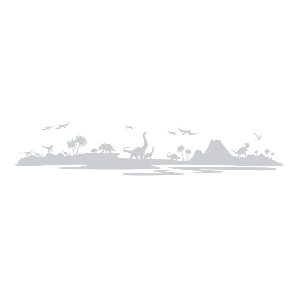 Azutura Dinosaurier-Landschaft Wandtattoo Jurassic Park Wand Sticker Kinder Kinder Kinder Schlafzimmer Haus Dekor verfügbar in 5 Größen und 25 Farben X-Groß Wolke Grau B00DOHCIIS Wandtattoos & Wandbilder 180289