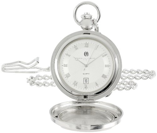 Charles Hubert 3844 Two-Tone Quartz Picture Frame Pocket Watch