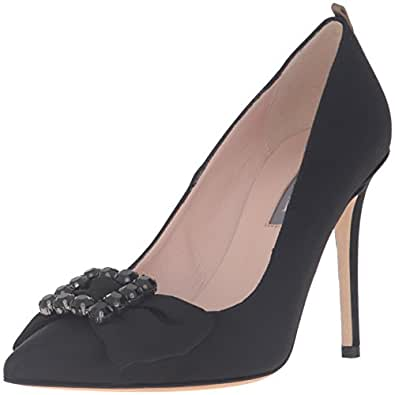 SJP by Sarah Jessica Parker Women's Witness Dress Pump, Ebony, 36.5 EU/6 M US