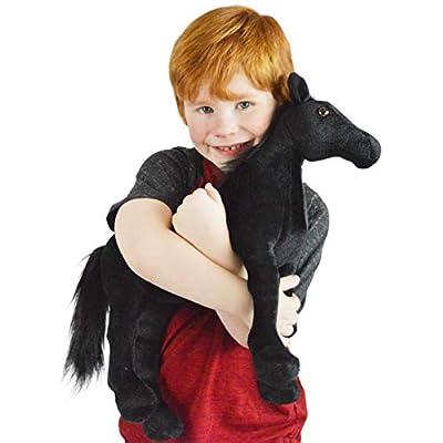VIAHART Ignacio The Black Stallion | 18 Inch Large Black Stallion Horse Stuffed Animal Plush Pony | by Tiger Tale Toys: Toys & Games