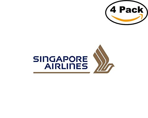 Airlines Singapore Airlines Logo 4 Stickers 4X4 Inches Car Bumper Window Sticker Decal