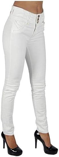 Pantalon Jeans Dama Mujer Mezclilla Strech Ajustados Sninny Color Blanco 9 Amazon Com Mx Ropa Zapatos Y Accesorios