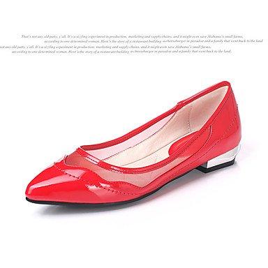 Cómodo y elegante soporte de zapatos de las mujeres pisos primavera verano otoño Club zapatos charol boda al aire libre oficina y carrera partido y vestido de noche Casual Flat heelblack negro