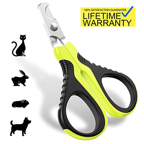 JOFUYU Updated 2019 Version Pet Nail Clippers for Small Animals, Best Cat Nail Clippers Claw Toenail Trimmer, Professional Home Grooming Kit for Cats Dog Bunny Rabbit Bird Puppy Kitten Ferret Kitty (Best Nail Products 2019)