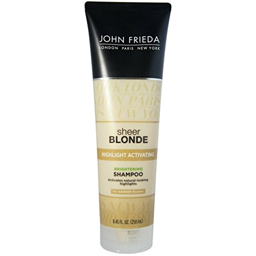 John Frieda Sheer Blonde Highlight Activating Shampoo for Darker Shades, 8.45-Ounce Bottles (Pack of 3)