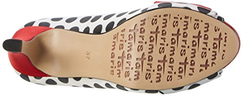 Femmes Des Blk 026 Multicolores Orteils 29300 les Tamaris Talons Ouvert Points Peigne wF1aq