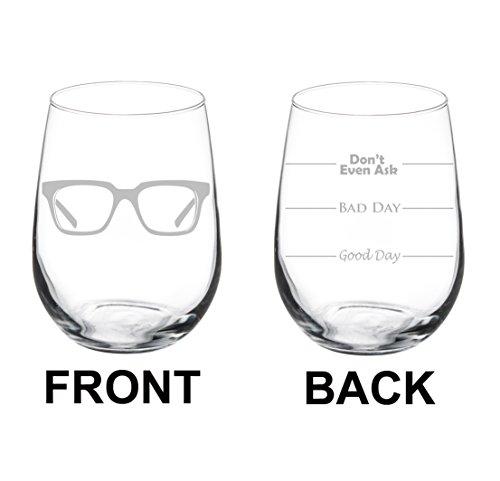 Wine Glass Goblet Two Sided Optometrist Optometry (17 oz Stemless)