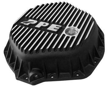PPE HEAVY DUTY REAR ALUMINUM DIFFERENTIAL COVER BRUSHED GM & DODGE W/ 11.5'' REAR AXLE - 138051010 by Pacific P