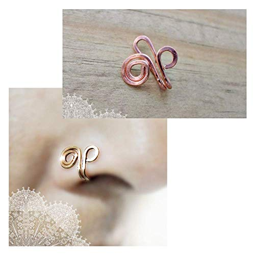 Ms Body Jewelry Wall Art Copper Nose Cuff Infinity Piercing Tragus Cuff Ear Cuff Non Pierced Fake Nose Ring Fake Septum Piercing From Amazon Daily Mail