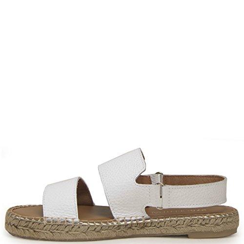 Sandalo Espadrillas Sandalo Piatto Donna 275 Centrale Bianco