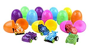 Kangaroo's Easter Eggs with Toy Cars Inside (12-Pack)