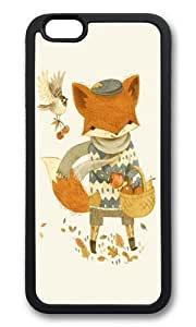 Apple Iphone 6 Case,WENJORS Adorable Fritz the Fruit Foraging Fox Soft Case Protective Shell Cell Phone Cover For Apple Iphone 6 (4.7 Inch) - TPU Black