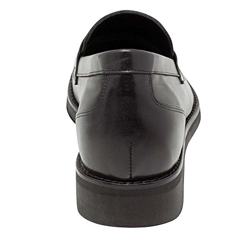 Masaltos Scarpe con Rialzo da Uomo Che Aumentano l'Altezza Fino a 7 cm. Fabbricate in Pelle. Modello Milan Nero
