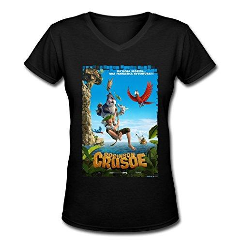 dragon-robinson-crusoe-poster-v-neck-t-shirts-for-women-black-xx-large