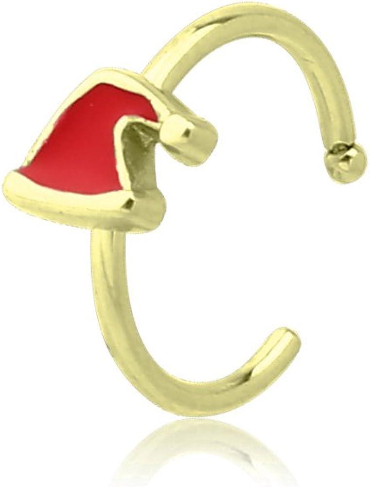 316L Surgical Steel Nose Stud Ring Christmas Reindeer 20 Gauge 20G
