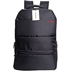 R Horse Business Water Resistant Polyester Laptop Backpack with Anti-theft zipper and Suitcase Strap Fits Under 17-Inch Laptop and Notebook, Black