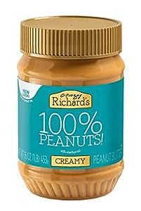 Crazy Richards 100% Natural Creamy Peanut Butter - 16oz Jar