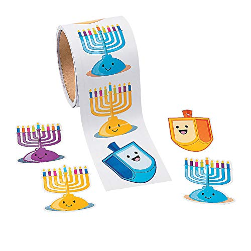 Fun Express - Hanukkah Candle Roll Stickers for Hanukkah - Stationery - Stickers - Stickers - Roll - Hanukkah - 1 Piece ()