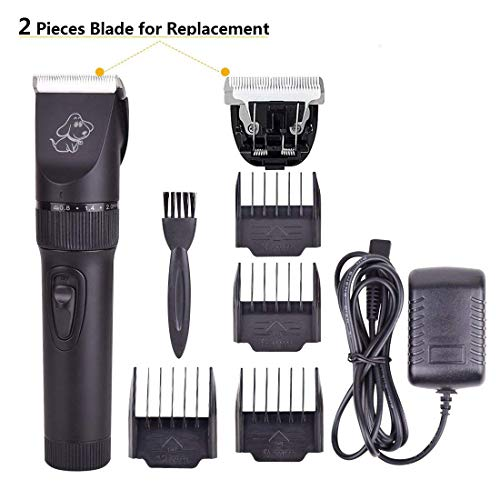 PERSUPER Upgrade Pet Rechargeable Hair Electric Clippers, Dog Grooming Hair Trimmer Cat Shaver Professional Clippers Tool Kit for Small,Medium and Large Dogs,Cats,Horses and Kids -