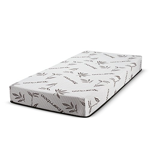 FortnightBedding 6 Inch Gel Memory Foam Mattress with Bamboo