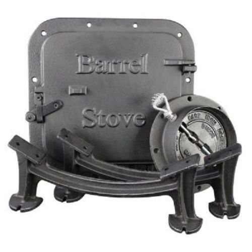 wood barrel stove kit - 7