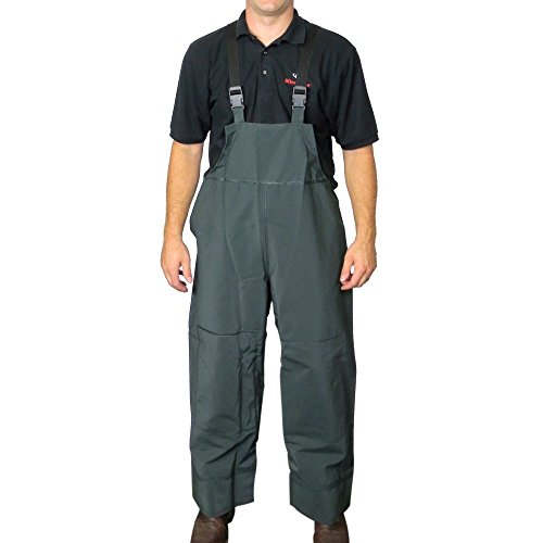 Pvc Rain Bib Overall - UltraSource PVC Rain and Fishing Overalls, Size Large