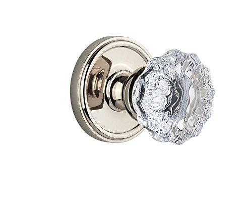 - Grandeur Georgetown Rosette with Fontainebleau Knob, Single Dummy, Polished Nickel