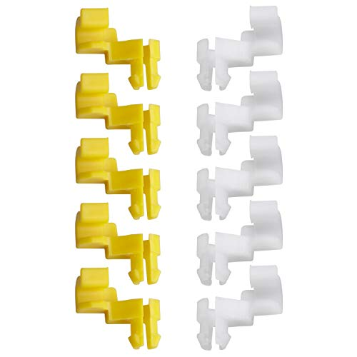 HERCOO Tailgate Handle Door Lock Rod Clips Left Right Driver Passenger Side Yellow White 5mm Rod Size for 69293-12030 69293-12040 Compatible with Toyota Camry Celica Corolla Echo Highlander Tundra